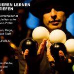 Jonglieren lernen und vertiefen mit Benjamin Büche, Morris Wick und Alan Kisiliuk